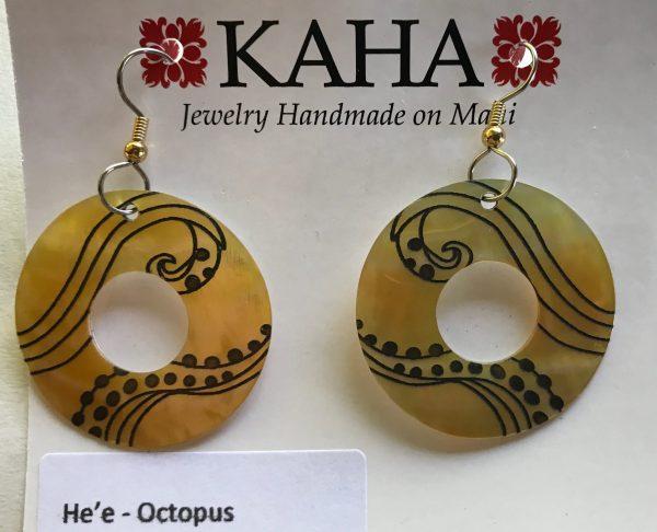 He'e - mother of pearl earrings.