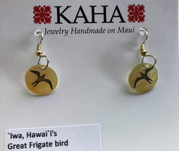 Iwa - mother fo pearl earrings.