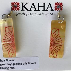 Lehua - long rectangular earrings by KAHA.